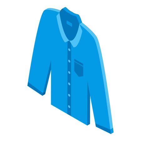 Man jeans shirt icon, isometric style Stock Illustratie