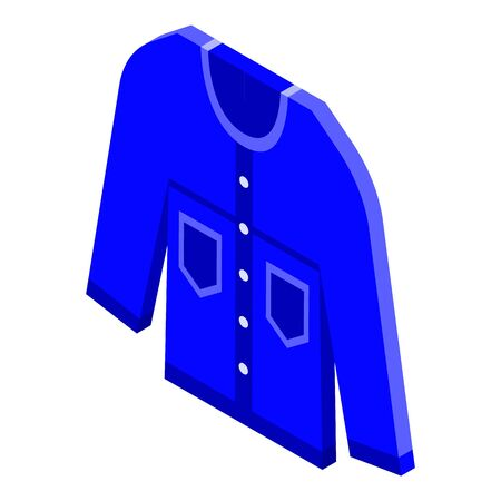 Fashion jeans shirt icon, isometric style