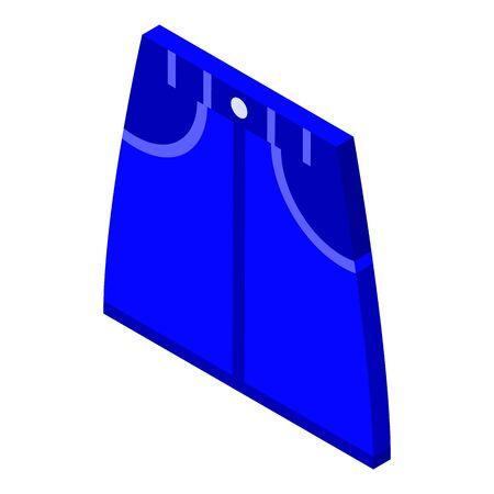 Jeans denim skirt icon, isometric style Illustration