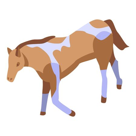 Farm horse icon. Isometric of farm horse vector icon for web design isolated on white background
