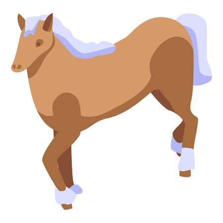 Ride horse icon. Isometric of ride horse vector icon for web design isolated on white background