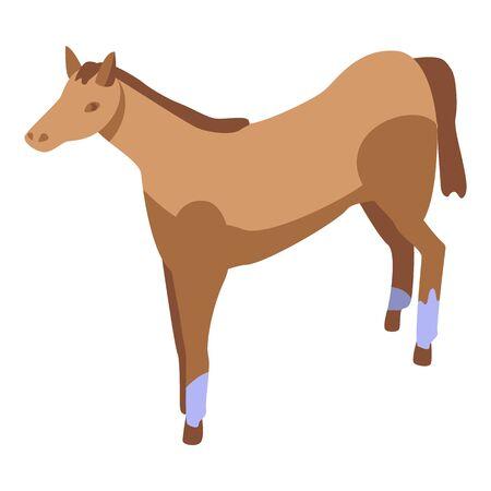 Speed horse icon. Isometric of speed horse vector icon for web design isolated on white background Ilustração