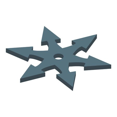 Ninja star icon. Isometric of ninja star vector icon for web design isolated on white background