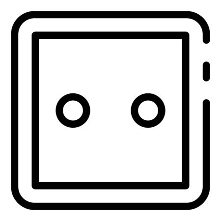 Classic socket icon, outline style 일러스트