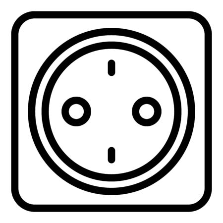 Room socket icon, outline style