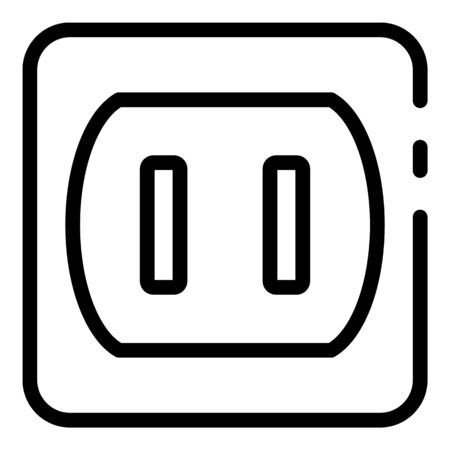 Line room socket icon, outline style