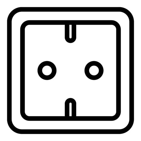 Energy socket icon, outline style