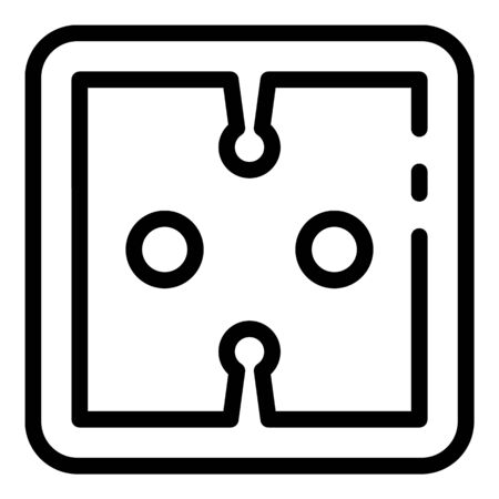 Button socket icon, outline style 일러스트