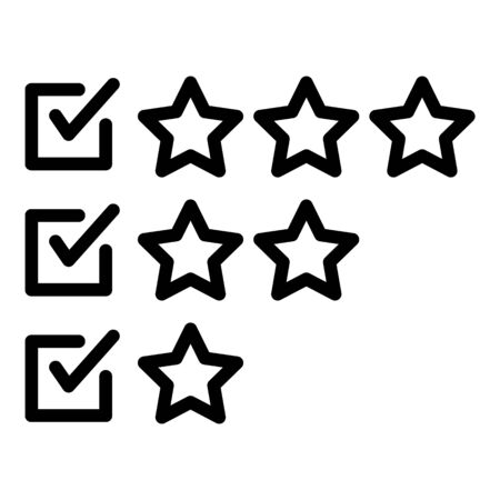Online survey icon, outline style