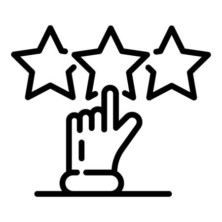 Feedback icon, outline style