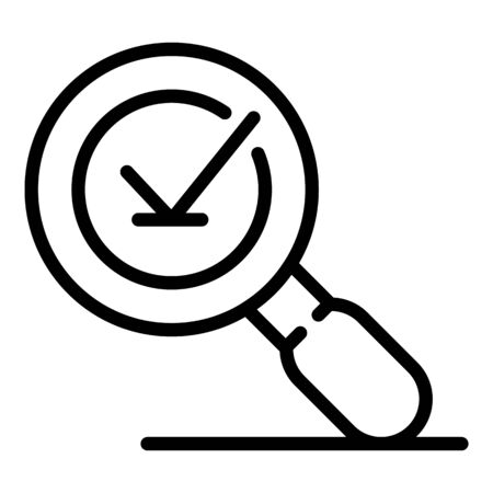 Magnifier feedback icon, outline style