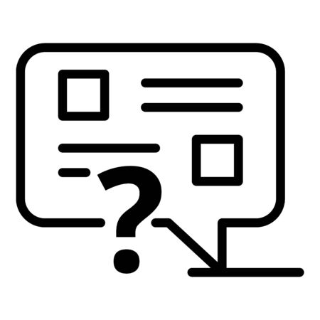 Internet opinion icon, outline style 일러스트