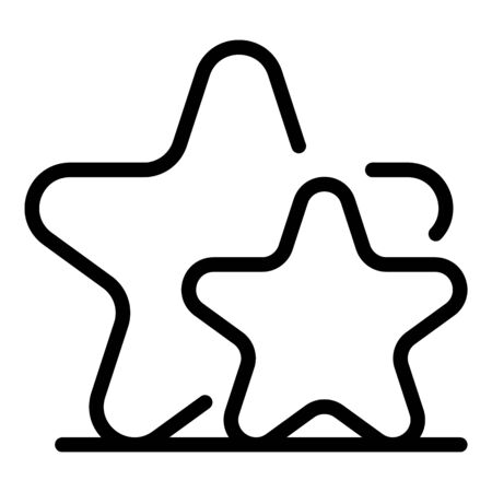 Stars group icon, outline style
