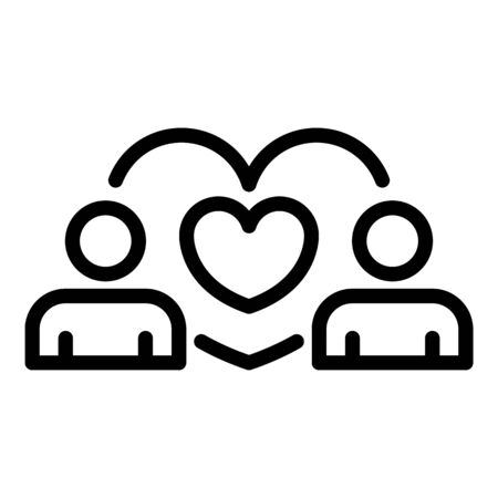 Love couple icon. Outline love couple vector icon for web design isolated on white background