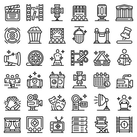 Art director icons set. Outline set of Art director vector icons for web design isolated on white background 일러스트