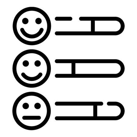 Smile feedback icon. Outline smile feedback vector icon for web design isolated on white background