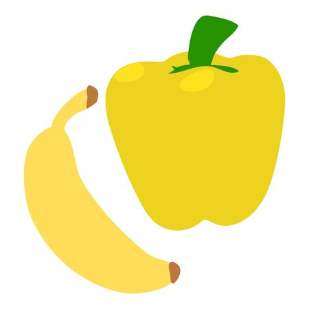 Yellow food icon. Isometric illustration of yellow food vector icon for web Imagens - 138462108