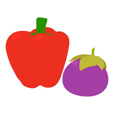 Colorful vegetables icon. Isometric illustration of colorful vegetables vector icon for web Imagens - 138462349