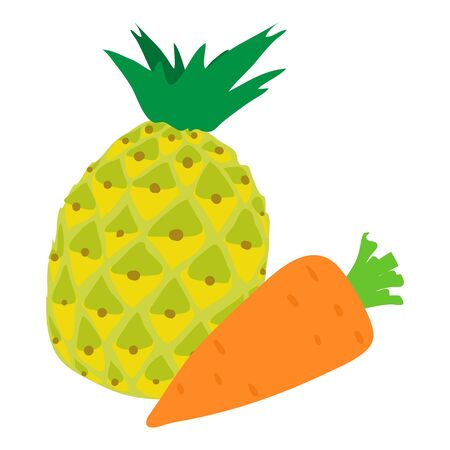 Vitamin food icon, isometric style