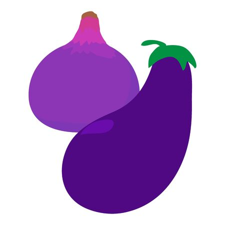 Purple food icon. Isometric illustration of purple food vector icon for web