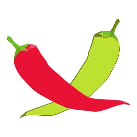 Banana pepper icon, isometric style