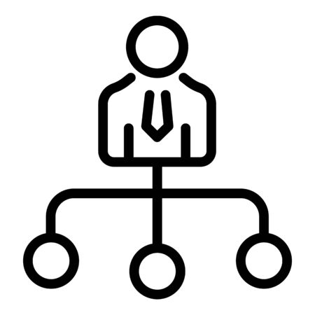 Finance pictogram icon, outline style