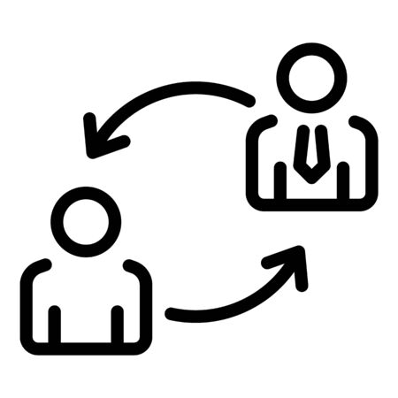 Finance work exchange icon. Outline finance work exchange vector icon for web design isolated on white background Illusztráció