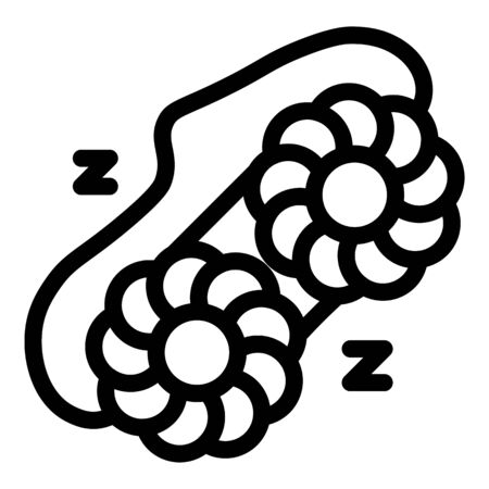 Accessory sleep mask icon. Outline accessory sleep mask vector icon for web design isolated on white background