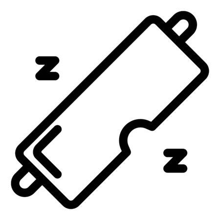 Spa sleep mask icon, outline style