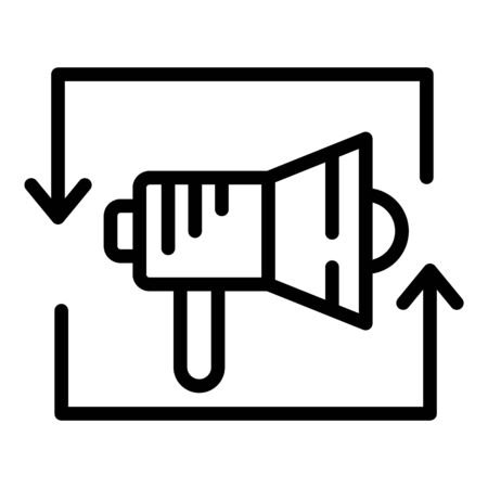 Brand megaphone icon, outline style Banque d'images - 138464150