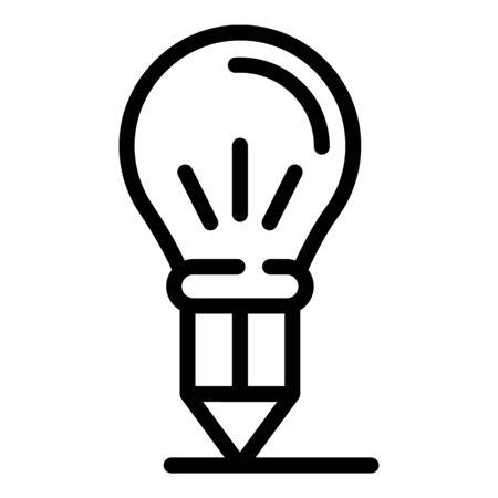 Idea pencil icon, outline style Illustration