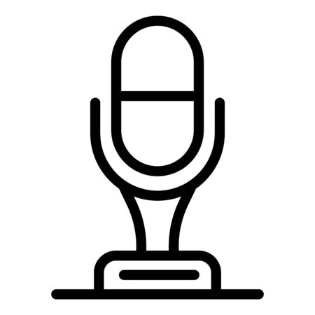 Studio microphone icon, outline style Foto de archivo - 138464207