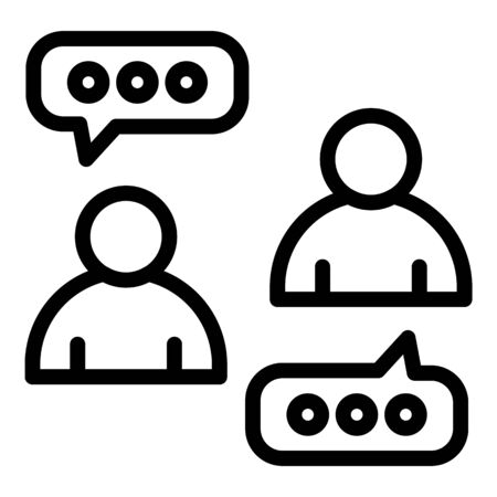 Digital chat icon, outline style Illustration