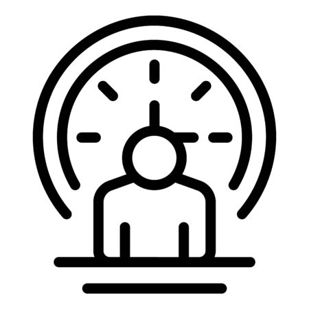 Work time icon. Outline work time vector icon for web design isolated on white background Stok Fotoğraf - 138461793