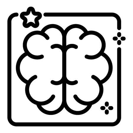 Ai algorithm icon, outline style
