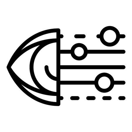 Ai eye icon, outline style