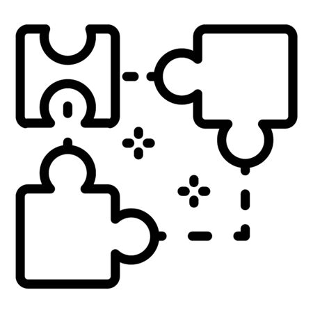 Ai smart puzzle icon, outline style