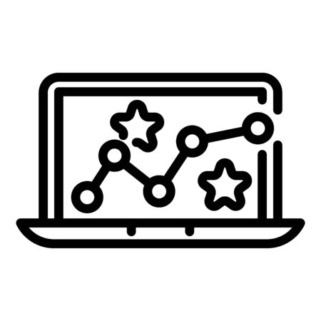 Laptop gaming icon, outline style