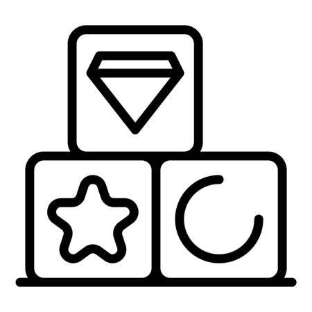 Game cube prize icon, outline style