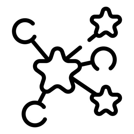 Cyber game scheme icon, outline style