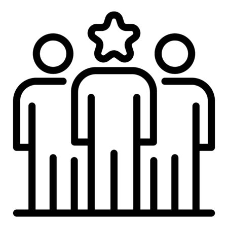 Star gaming team icon, outline style Stock Illustratie
