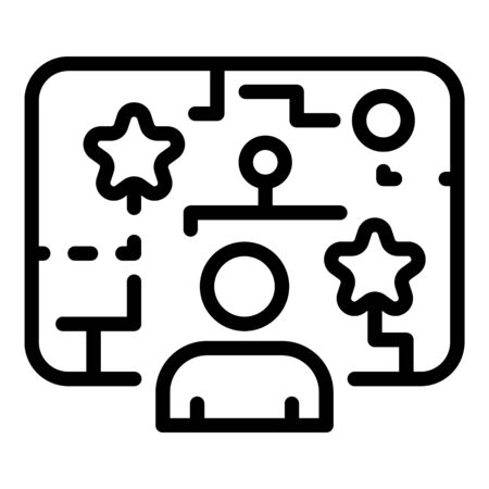 Internet game icon, outline style