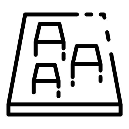 Creative video game icon, outline style