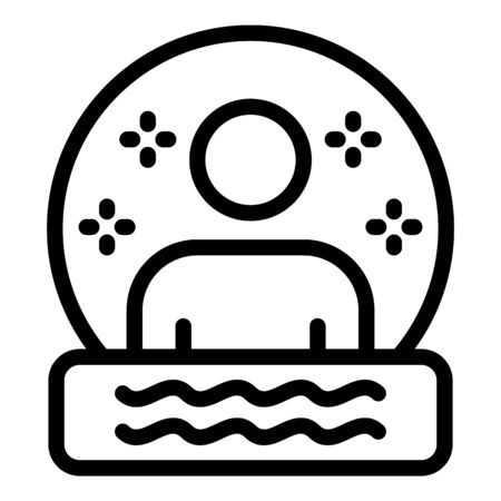 Gamer avatar icon. Outline gamer avatar vector icon for web design isolated on white background Stock Illustratie