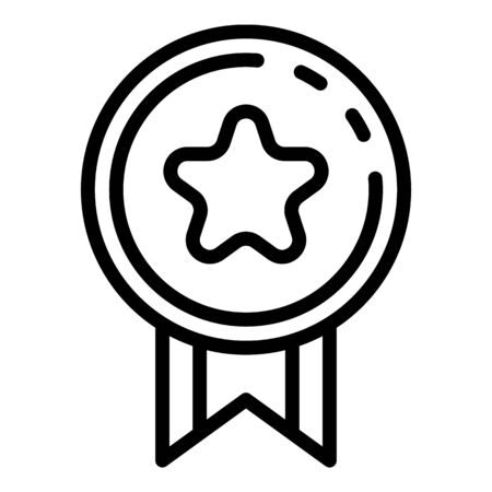 Video game reward icon. Outline video game reward vector icon for web design isolated on white background