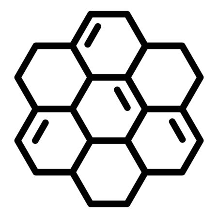 Honeycombs icon. Outline honeycombs vector icon for web design isolated on white background