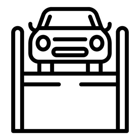 Lift car icon. Outline lift car vector icon for web design isolated on white background