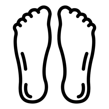 Feet icon, outline style Illustration