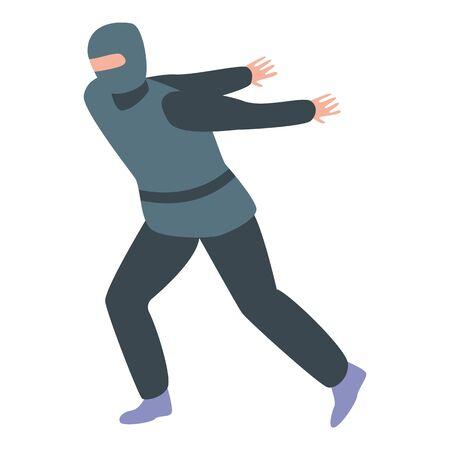 Ninja jump icon. Isometric of ninja jump vector icon for web design isolated on white background