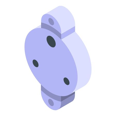 Abstract power socket icon, isometric style